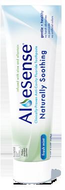 AloeSense toothpaste tube